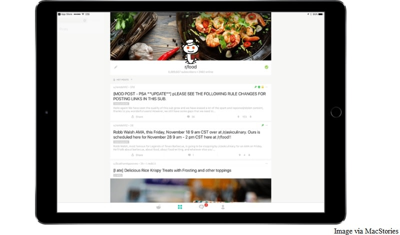 reddit 2 0 for ios brings along support for ipad technology news
