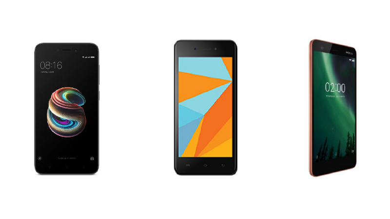 Redmi 5A vs Micromax Bharat 5 vs Nokia 2: Price in India, Specifications, Features Compared