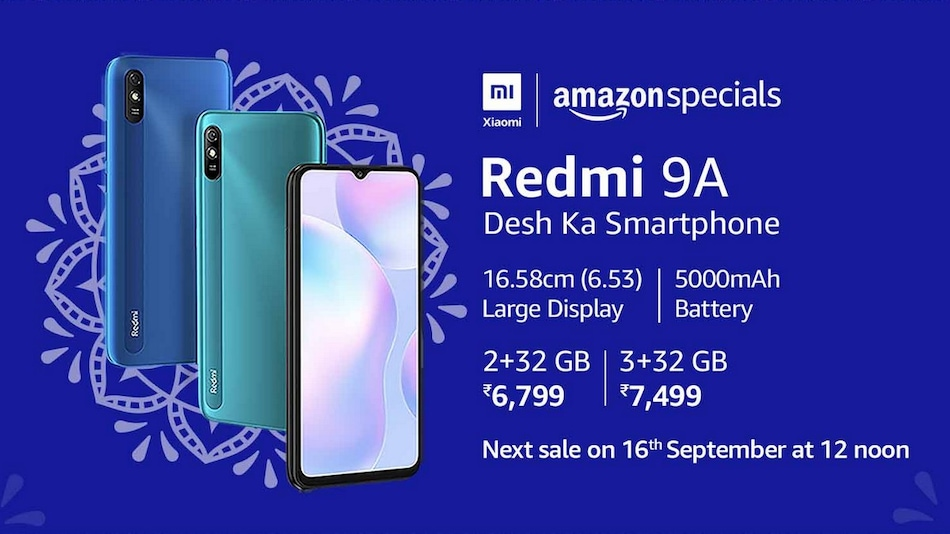 Redmi 9A Set to Go on Sale Today at 12 Noon via Amazon, Mi.com: Price in India, Specifications