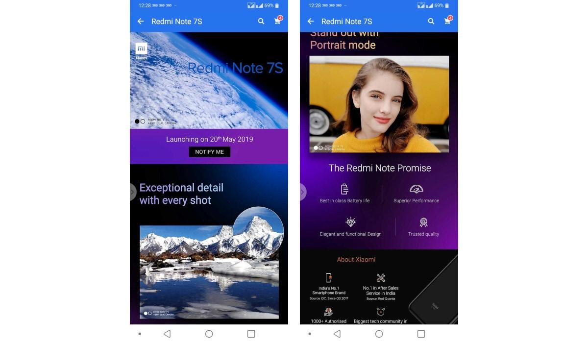 Redmi note 7s teaser flipkart app Redmi Note 7S Teaser