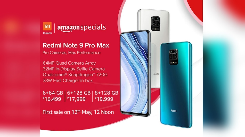Redmi Note 9 Pro Max to Go on Sale for the First Time in India Today via Mi.com, Amazon: Price, Specifications