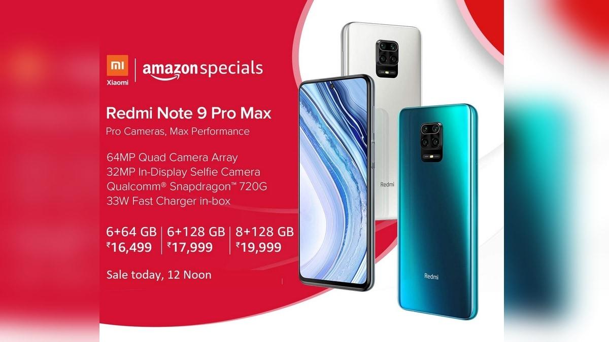 Redmi Note 9 Pro Max Next Sale on June 3 via Amazon and Mi.com ...