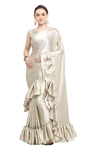 Ruffled Saree Womanista Saree with Blouse Piece 1555069563182