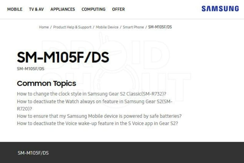 Samsung Galaxy M10 Spotted on India Support Page, Galaxy M30 Tipped to Sport Triple Camera Setup