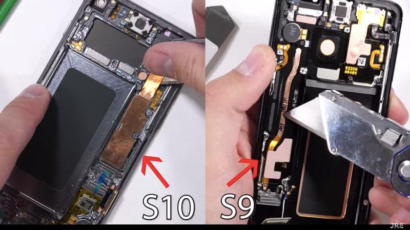 Samsung Galaxy S10 Teardown Reveals Thick Copper Pipe, Ultrasonic In-Display Fingerprint Scanner