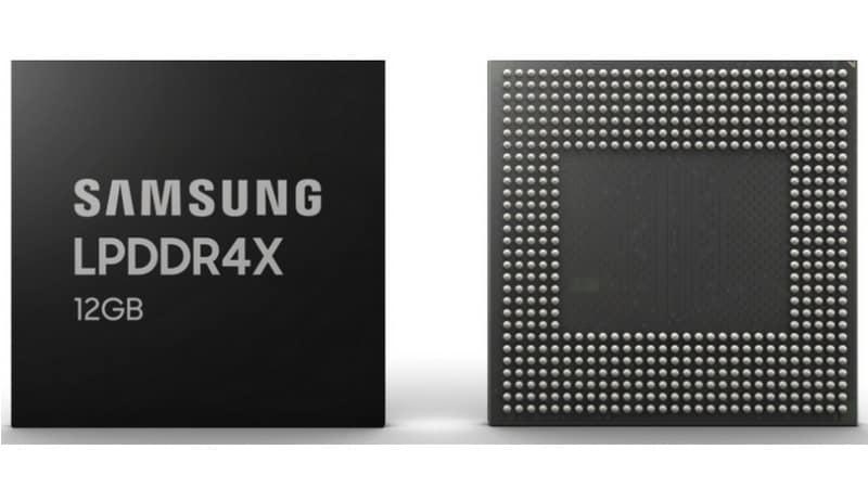 Samsung 12GB LPDDR4X DRAM Modules for Smartphones Enter Mass Production