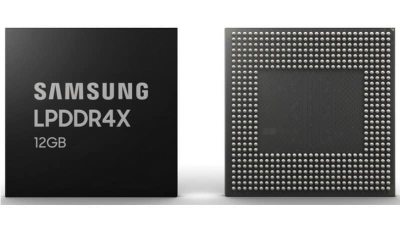 Samsung 12GB LPDDR4X DRAM Modules for Smartphones Enter Mass Production