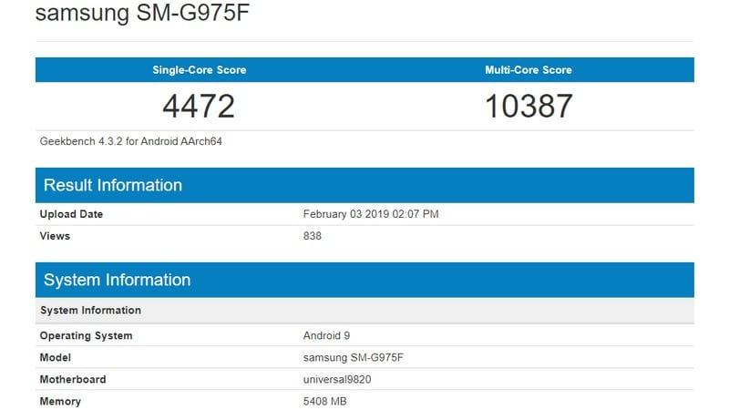 Samsung Galaxy S10 Models Get US FCC Certification, Exynos 9820-Powered Galaxy S10+ Sighted on Geekbench