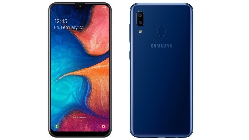 Samsung Galaxy A20 with Super AMOLED Display, Dual Rear Cameras Launched