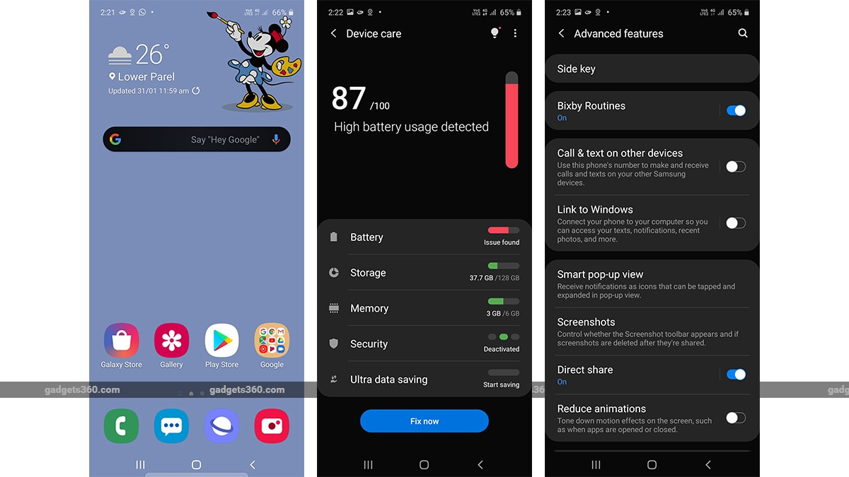 Samsung Galaxy A51 apps samsung
