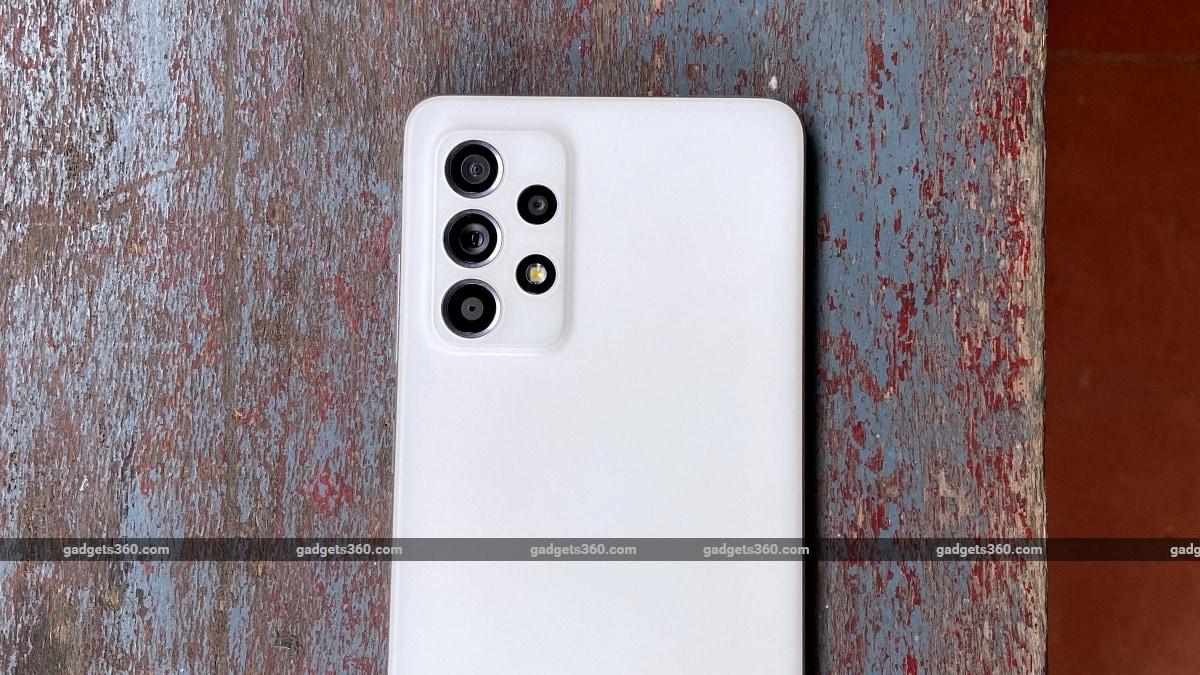 सैमसंग गैलेक्सी ए52एस बैक कैमरा डिजाइन एनडीटीवी सैमसंगगैलेक्सीए52एस सैमसंग
