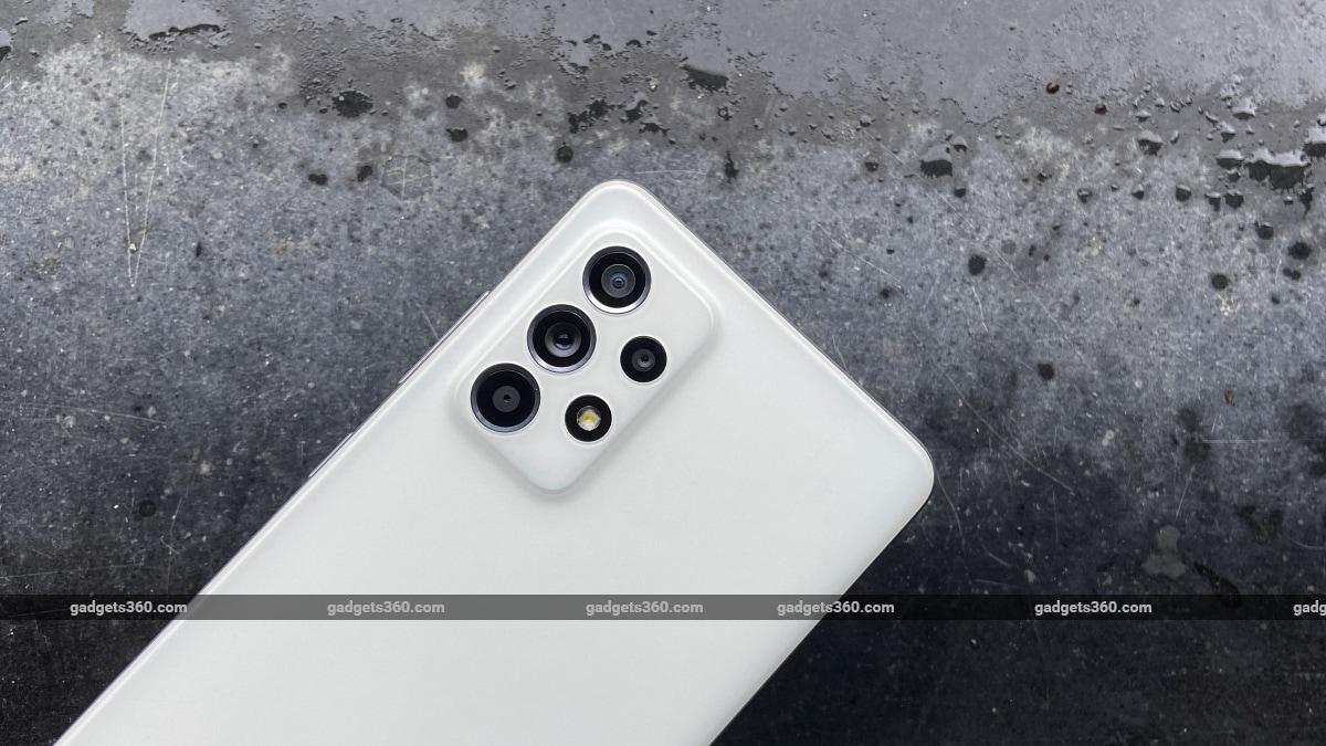 Samsung Galaxy A52s back cameras ndtv SamsungGalaxyA52s  Samsung