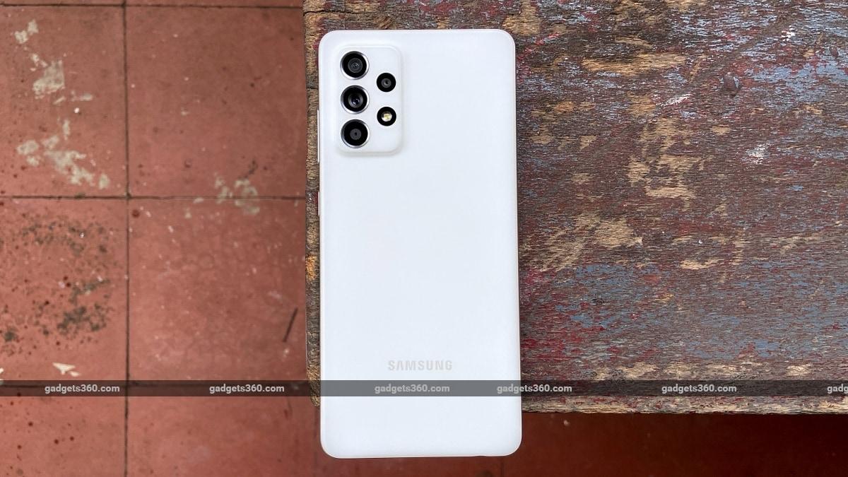 Samsung Galaxy A52s back design ndtv SamsungGalaxyA52s  Samsung