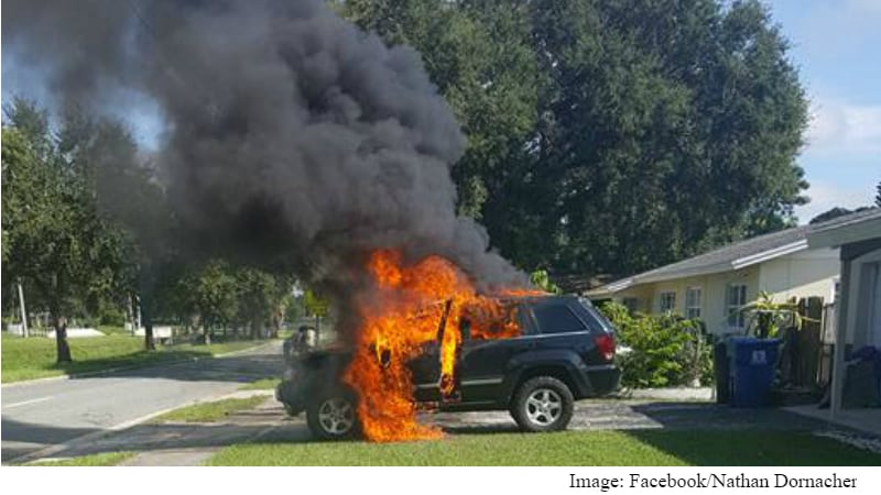 Samsung Galaxy Note 7 Explosions Reportedly Set a Jeep and House on Fire in the US