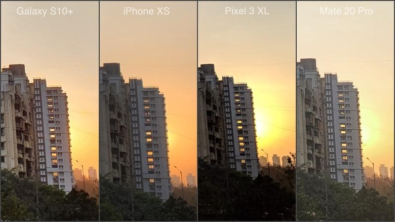 Samsung Galaxy S10plus camera comparo landscape daylight samsung