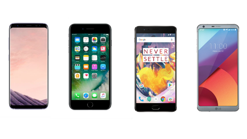 Samsung Galaxy S8 vs iPhone 7 Plus vs LG G6 vs OnePlus 3T