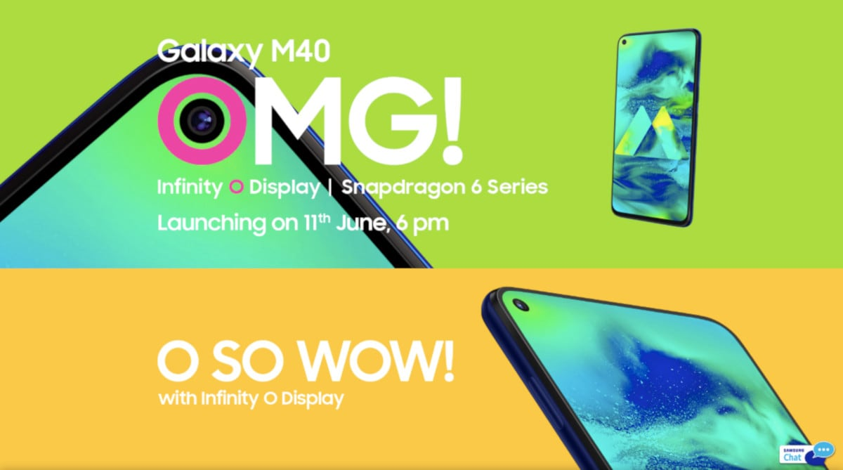 Samsung Galaxy M40 India Launch Set for June 11, Infinity-O Display Teased