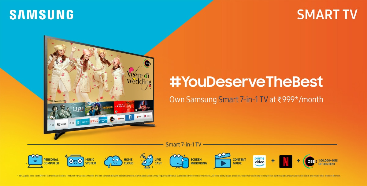 Samsung 55-Inch The Frame TV, Smart 7-in-1 TV Range Launched in
