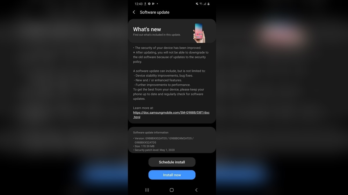 Samsung Galaxy S20 Series Starts Receiving New Update With May 2020 Security Patch