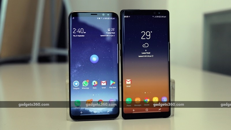 Sasmung Galaxy Note 8 comparo ndtv samsung