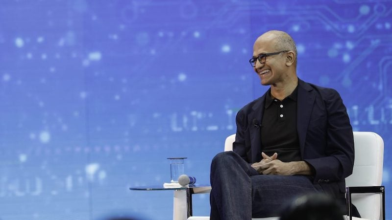Satya Nadella on Competing With Apple and Google, Minecraft
