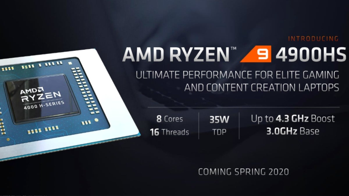 AMD Ryzen Mobile 4000 Series Detailed; New Ryzen 9 4900HS, 4900H Gaming CPUs Announced