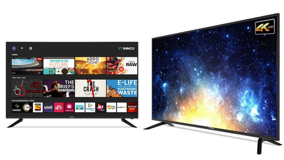 Shinco SO43AS, SO50QBT, SO55QBT Smart TV Models With Android, Up to 4K Resolution Launched in India
