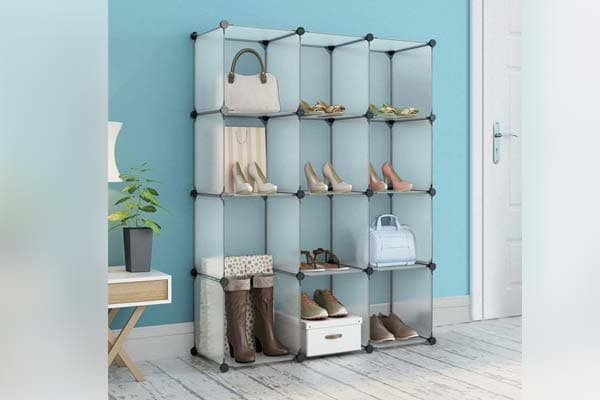 House of Quirk Plastic DIY Shoe Rack Cabinet Without Doors