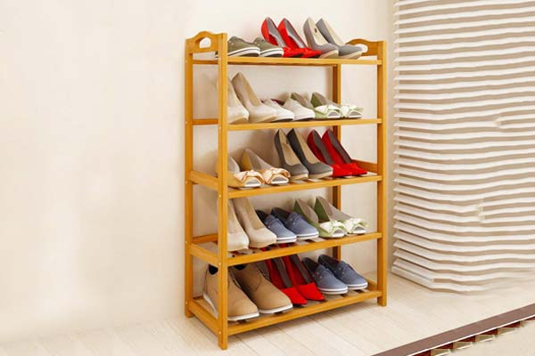 Livzing 5-Tier Multiuse Bamboo Wooden Shoe Rack