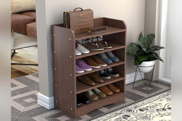 DecorNation Vegas 5 Tier Engineered Wood Shoe Rack