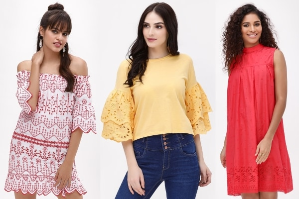 Broderie is The New Summer Trend! Shop Broderie Tops, Dresses Online on Koovs.com