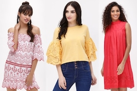 Broderie is The New Summer Trend! Shop Broderie Tops, Dresses Online on Koovs.com