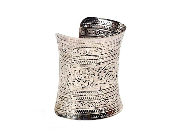 Silver Oxidised Kada Bangles Cinderella Intricately Crafted Antique Silver Hand Cuff for Women 1556010873809