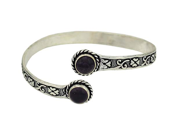 Silver Oxidised Kada Bangles High Trendz Stylish Oxidised Silver Plated Kada Bracelet 1556006867564