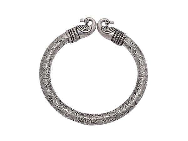 Silver Oxidised Kada Bangles Zephyrr Fashion German Silver Bangle Bracelet 1556010919838