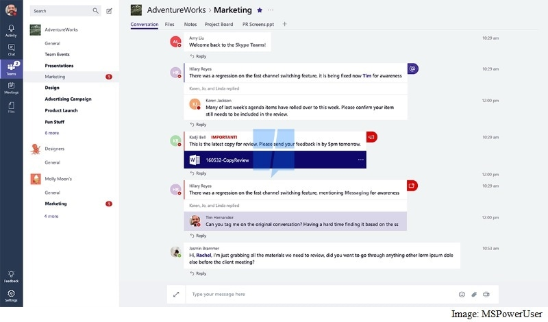 Microsoft Reportedly Developing Its Own Slack Rival Called Skype Teams