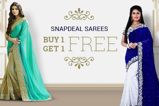 Snapdeal Sarees Buy 1 Get 1 Free Offer to Bank Upon this Wedding Season!