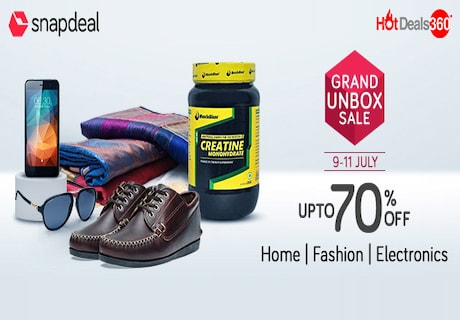 Snapdeal Grand Unbox Sale from 9th July to 11th July 2017!