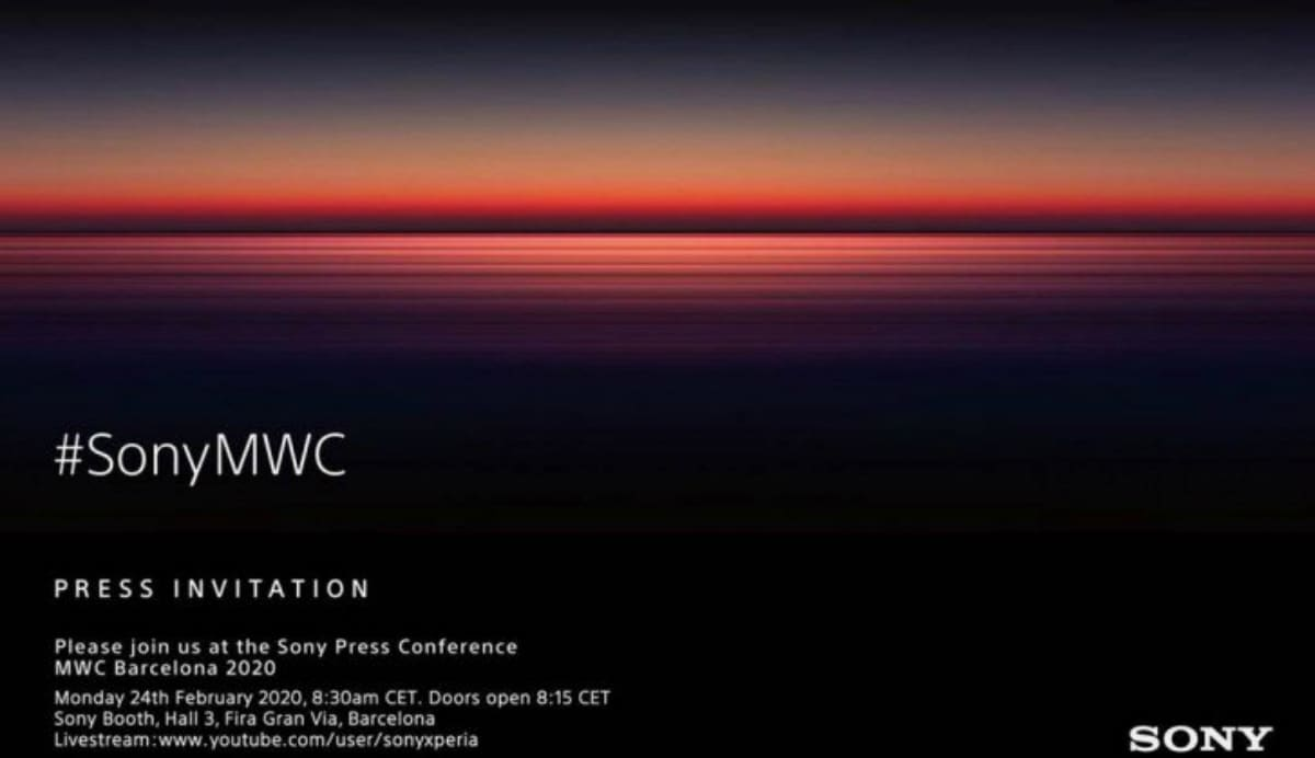 Sony Sends MWC 2020 Press Invites for February 24 Event, Xperia 5 Plus Expected