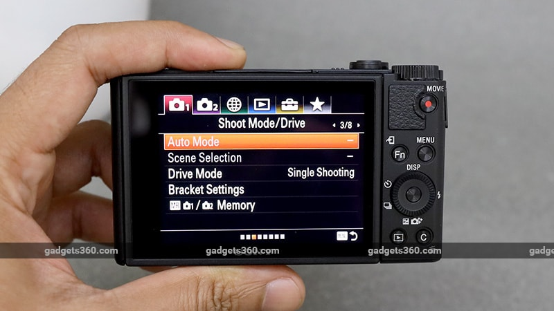 Sony Cyber shot DSC WX800 interface ndtv sony
