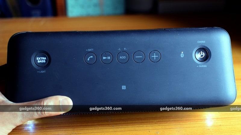 Sony SRS XB40 buttons ndtv sony
