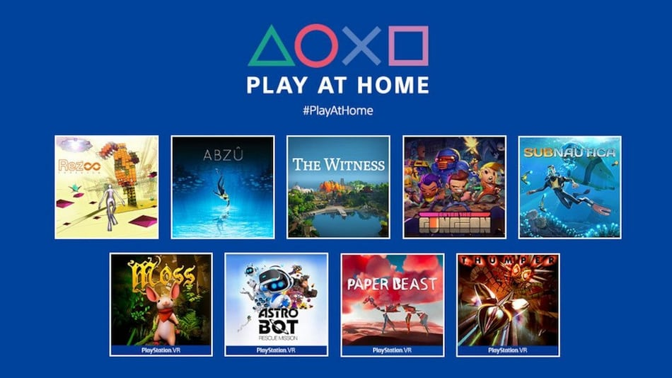 Sony Play at Home Initiative Brings 10 Free PS4, PS vr Games Starting March 25