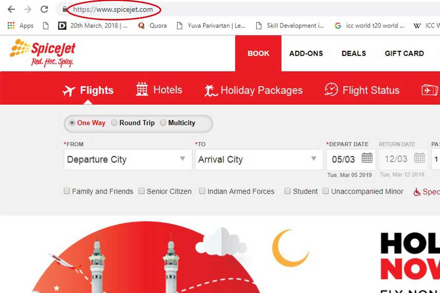 SpiceJet Customer Care Numbers Step 1 900