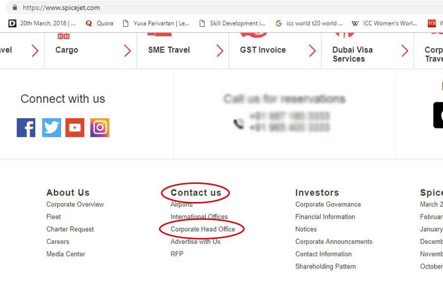 SpiceJet Customer Care Numbers Step 2 900