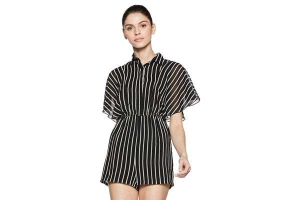 Stalk Buy Love Women Georgette Striped Brigida Playsuit 1556779998513