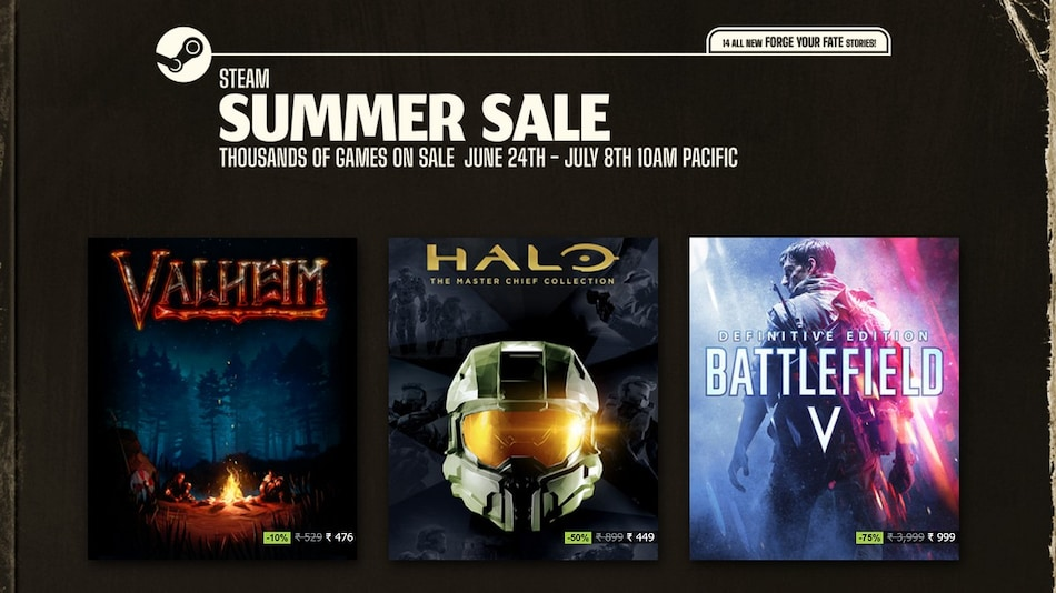 Steam Summer Sale Brings Discounts on Battlefield V, Fall Guys, Many Other PC Games