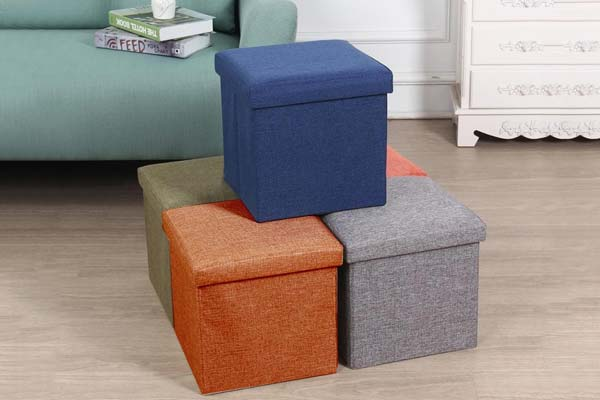 Sterling Foldable Ottoman Storage Box Cum Stool