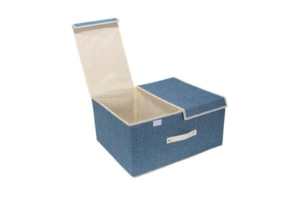 Hokipo Foldable Non-Woven Storage Boxes for Clothes with Lid