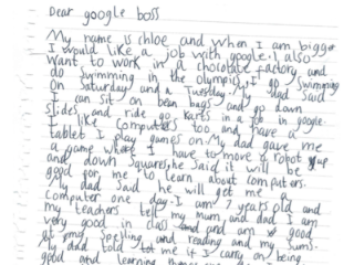 Sundar Pichai's Reply to 7-Year-Old Girl's Handwritten Letter Seeking a Job at Google