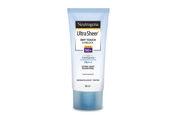 Sunscreen for oily skin in India Neutrogena Dry Touch SPF 50